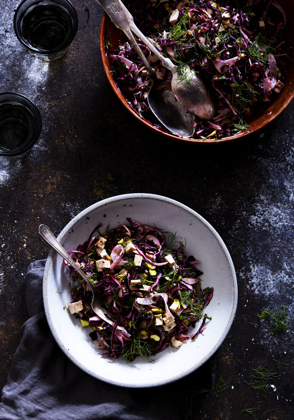 Red Cabbage & Fennel Slaw w/ Tangy Mustard Dressing (GF, V)