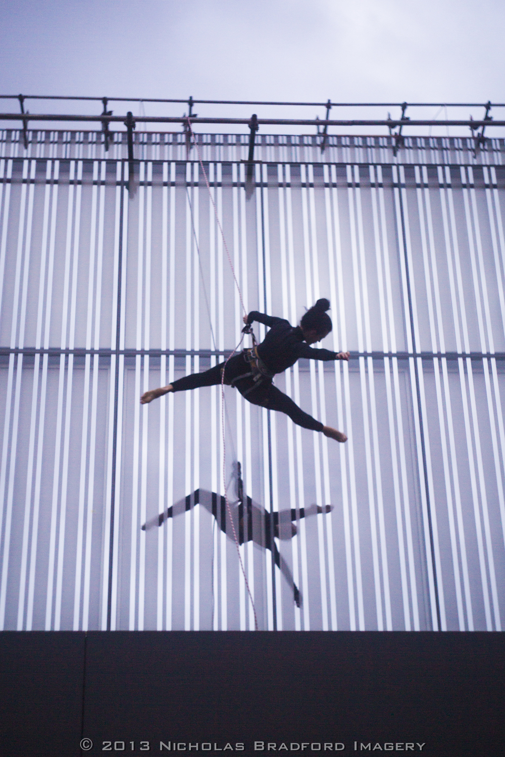Aerial Rehearsal on the Anchorage Museum, 2013