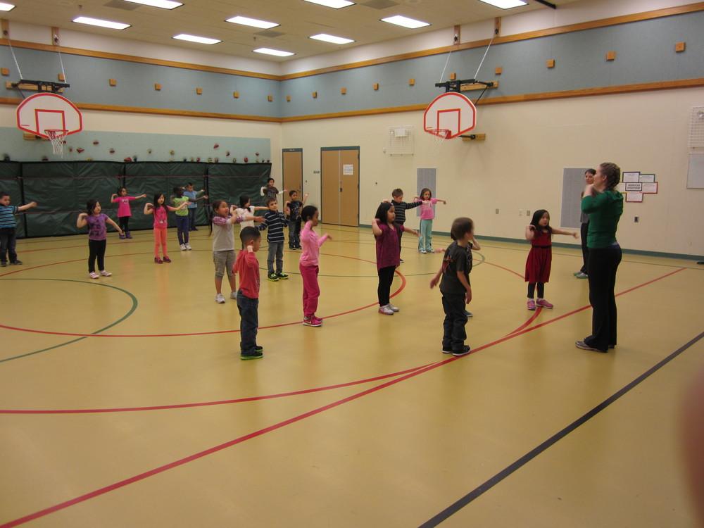 Ariel leading the Ptarmigan PE Class