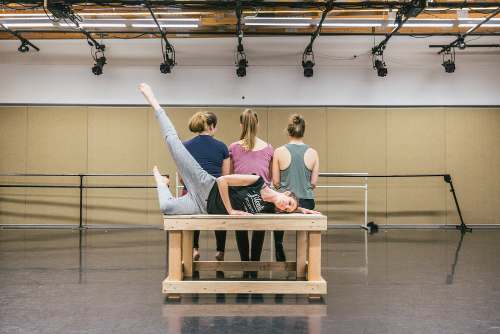 In rehearsal for Tiny Dances, 2019