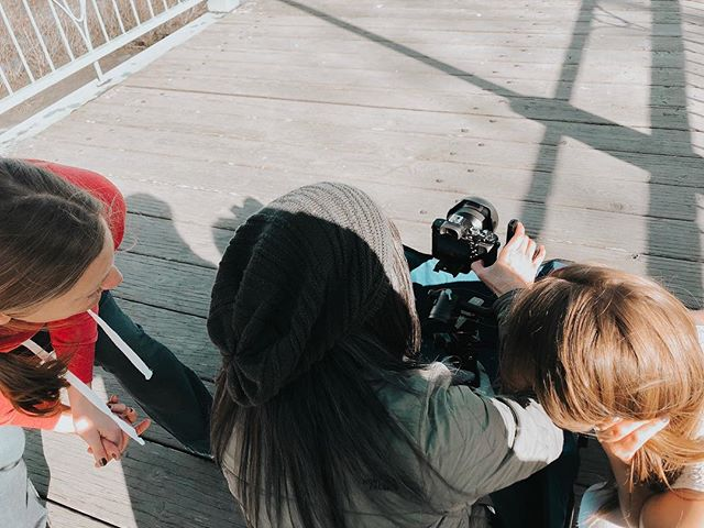 More behind the scenes action from filming day on our latest dance film project 🎬 #dancefilm #dancecollective #liveworkplay #anchoragelife #localtalent #aprilsunshine #springweekend
