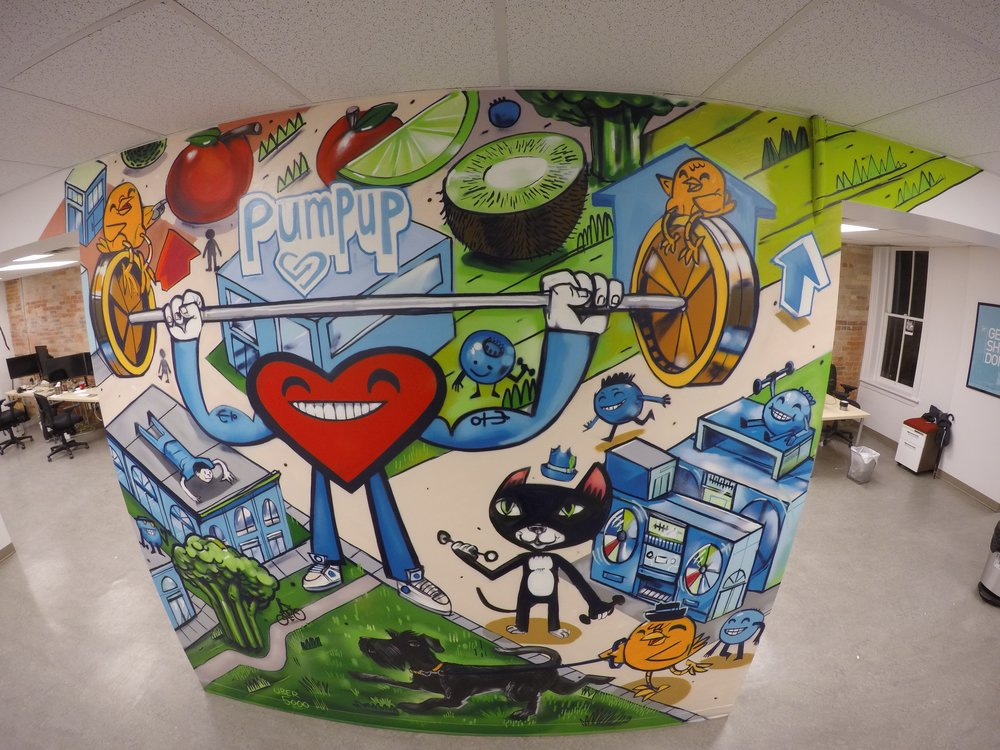 Recent Mural painted at PumpUp HQ