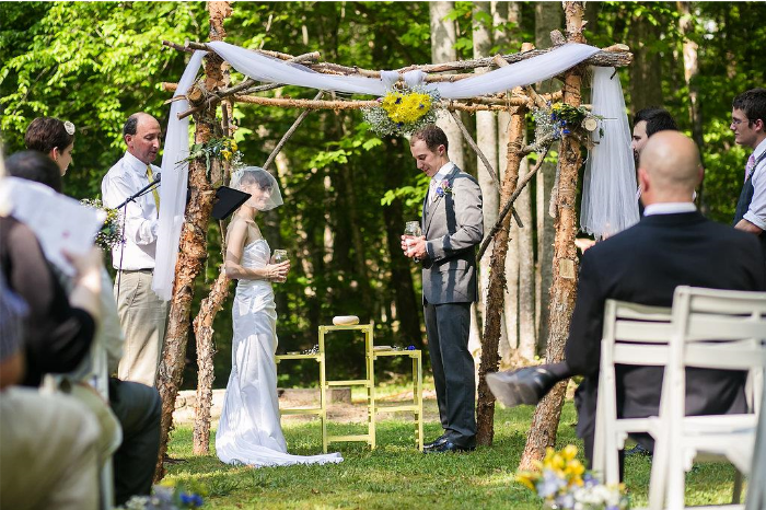 Are you having an outdoor wedding ceremony? If you are and you want to do a traditional unity candle ceremony, you may have trouble keeping the candles lit. Why don't you try doing a traditional salt ceremony instead? Click through to learn all about it! @paperswalloweve