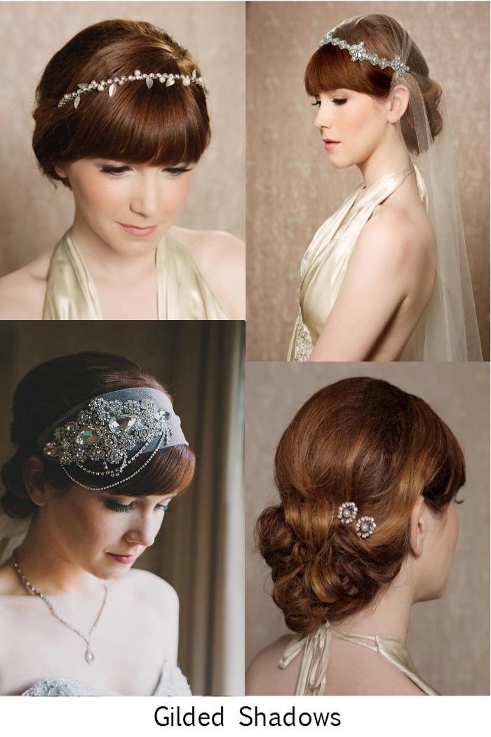 Gilded Shadows Veils + Hairpieces