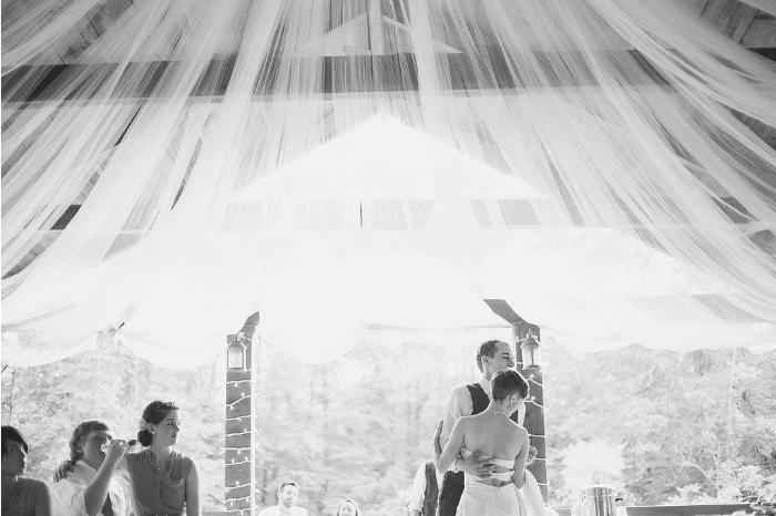 Josiah + Emily Tulle Ceiling
