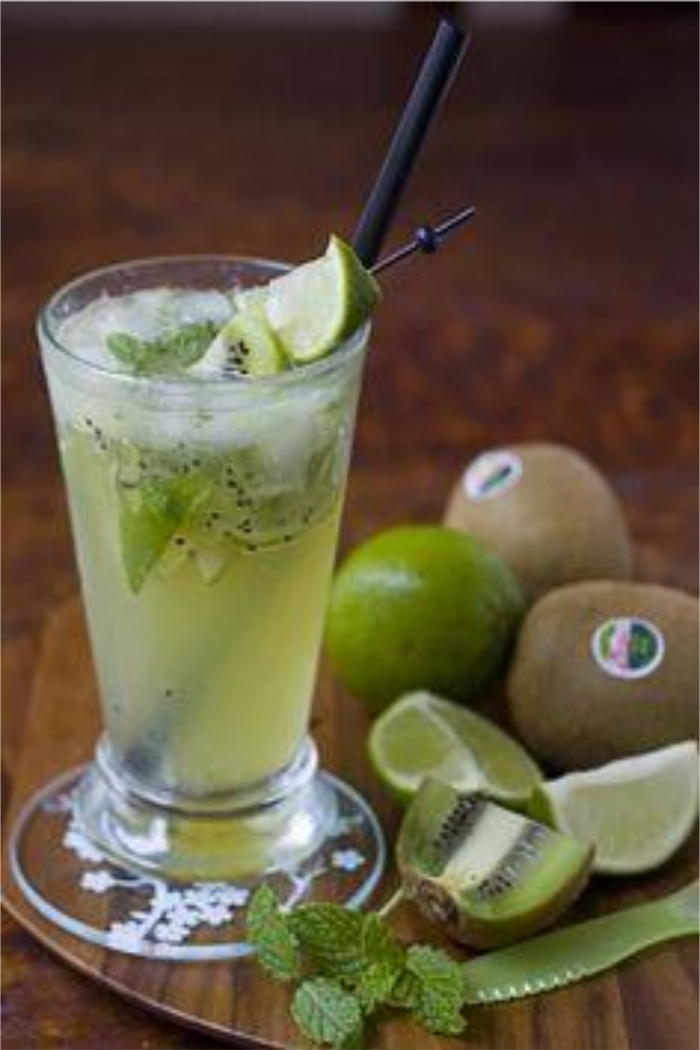 Muddled Kiwi Mocktail by La Fuji Mama