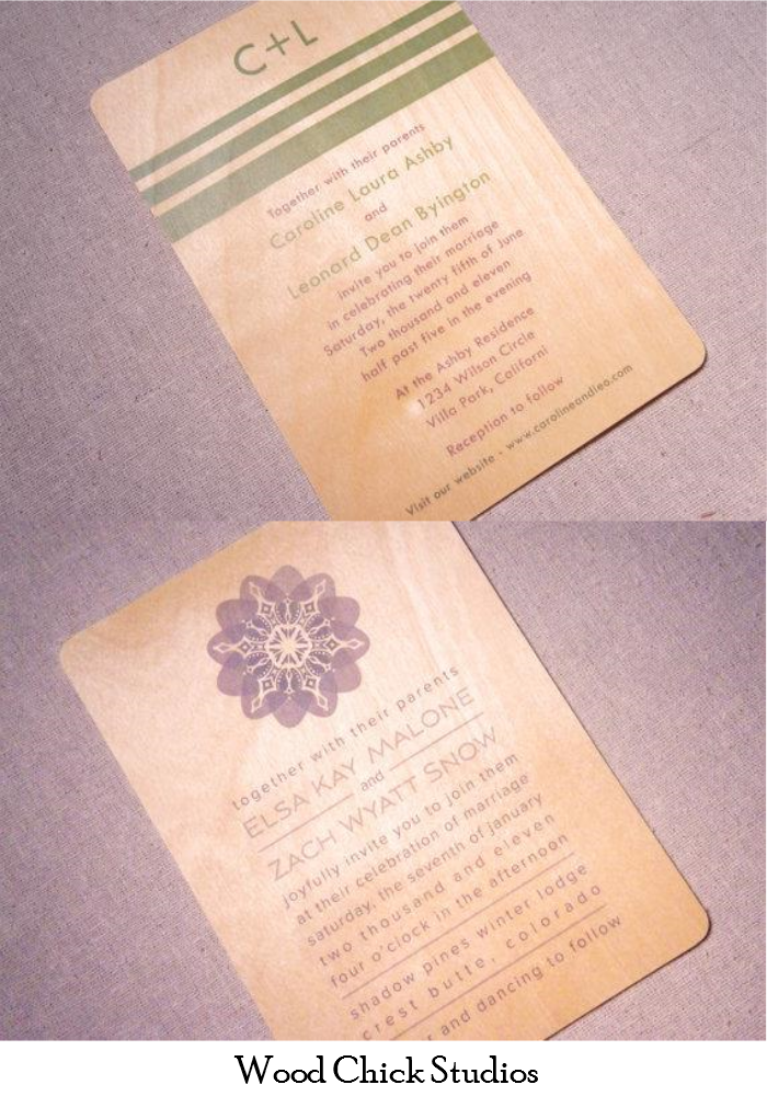 Wooden Wedding Invitations Paper Swallow Events