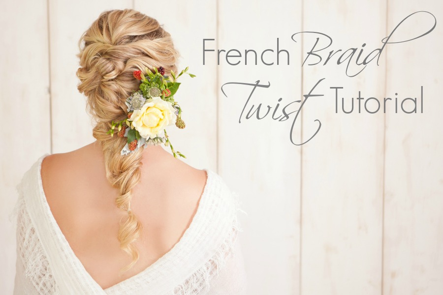 French Braid Twist Tutorial by The Bride Link