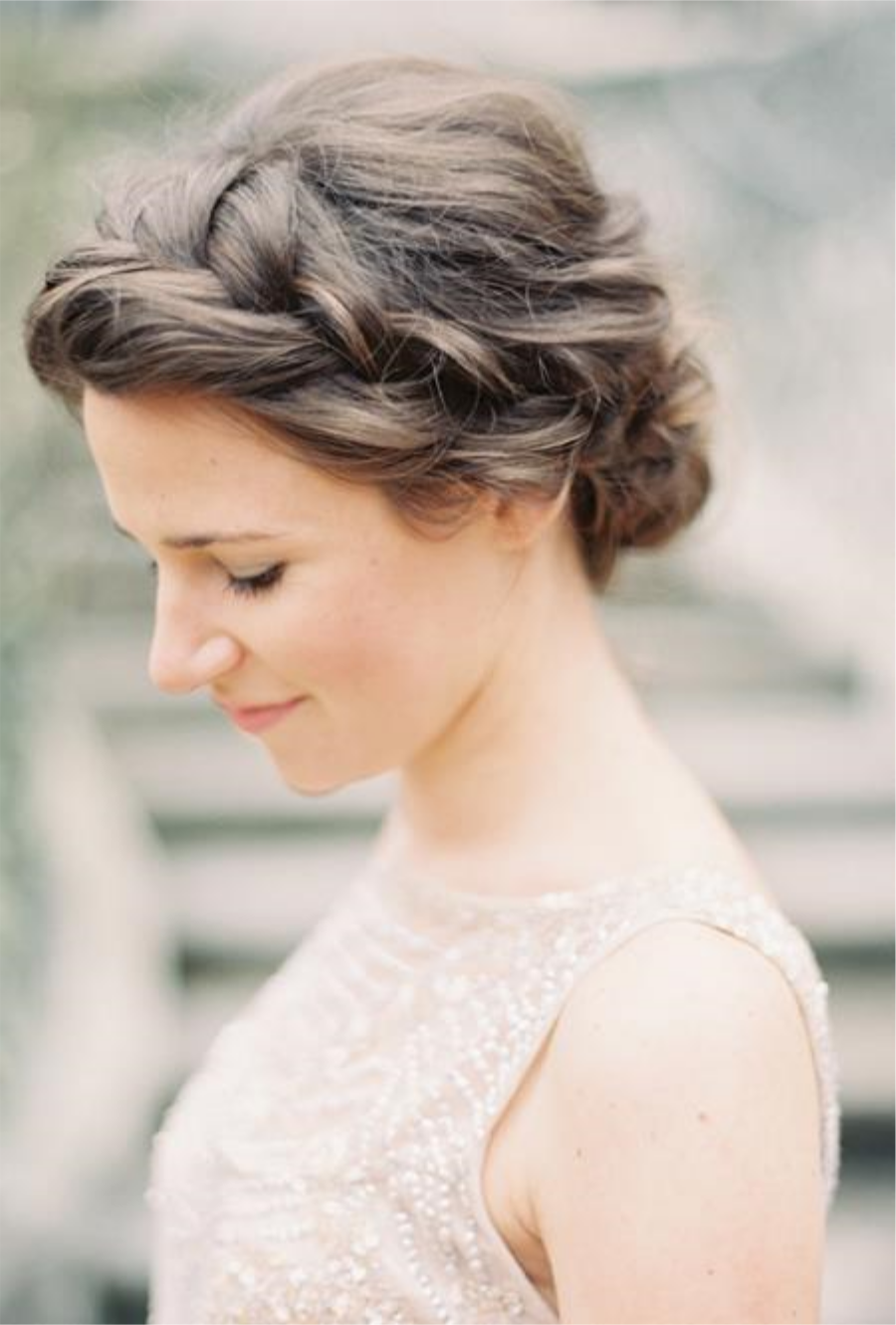 French Side Braid Bun by Brides