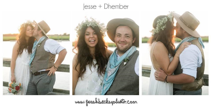 These photos are from Jesse + Dhember's magical boat dock wedding. I mean, look at that lighting!! I can't wait to share the rest of the photos bySarah Becker Photo.