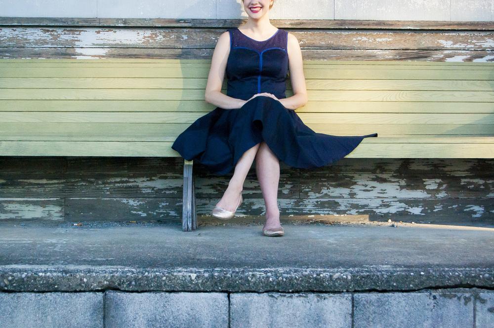 eShakti blue dress