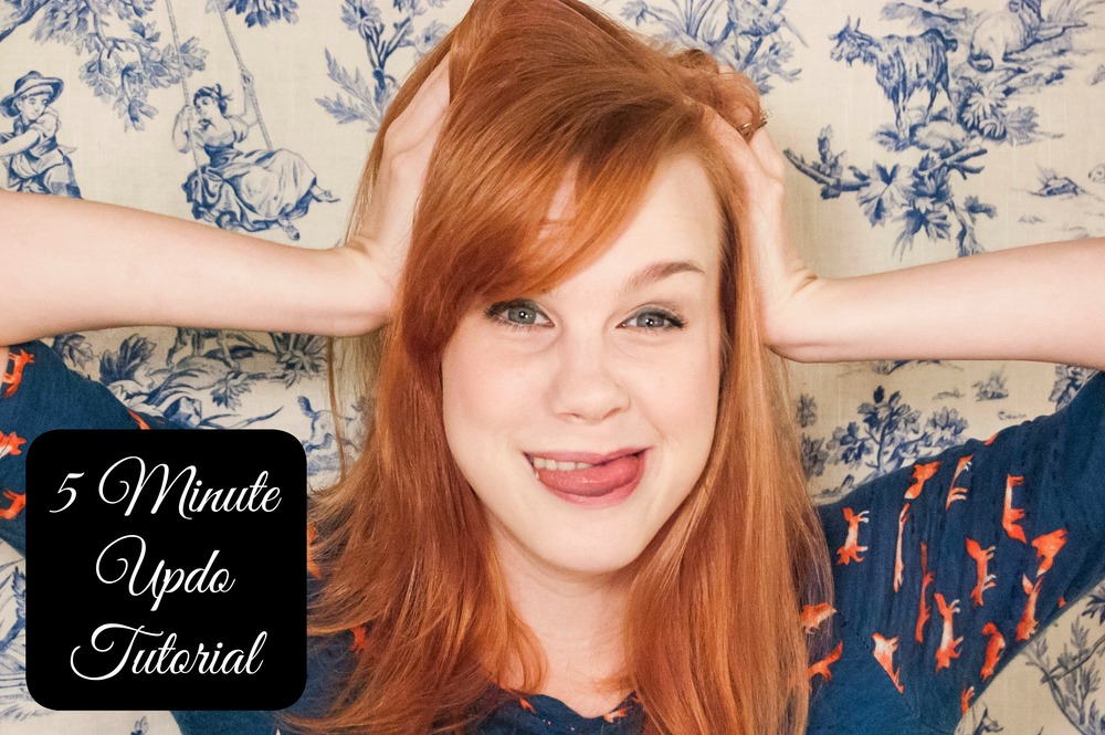 5 Minute Updo Tutorial - Paper Swallow Events