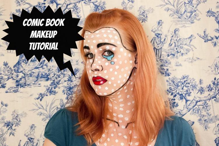 Halloween Makeup Tutorial: Retro Comic Book Girl — Paper Swallow ...