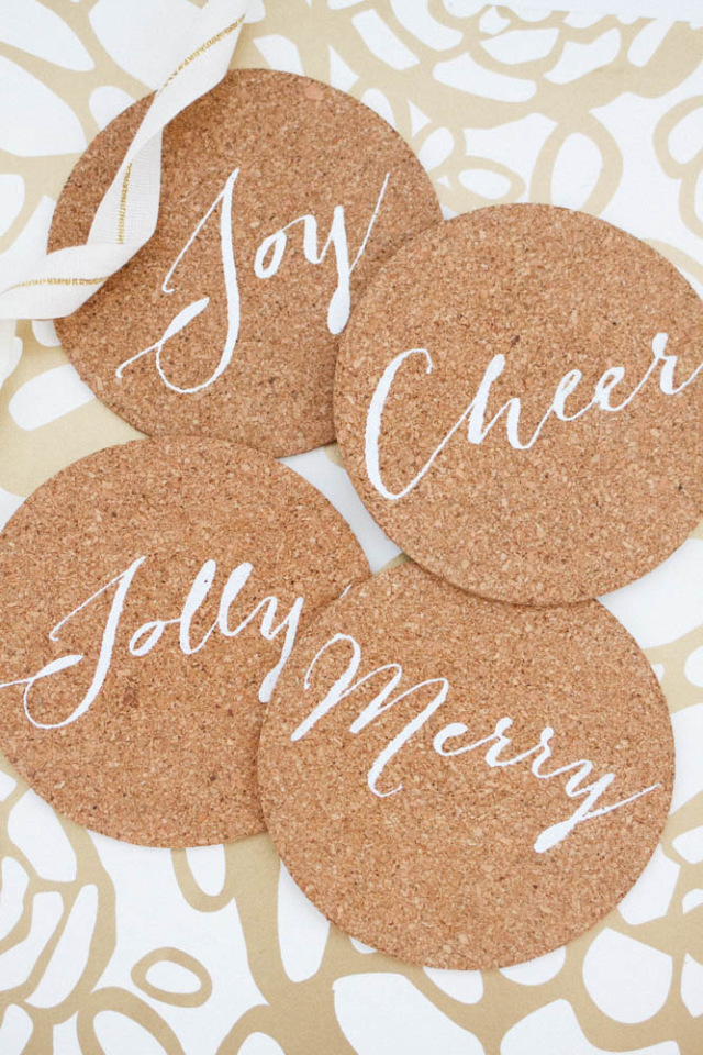 Holiday Cork Coasters
