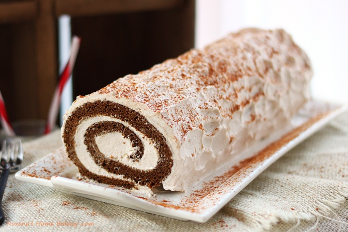 Gingerbread Roll Cake - Paper Swallow Events