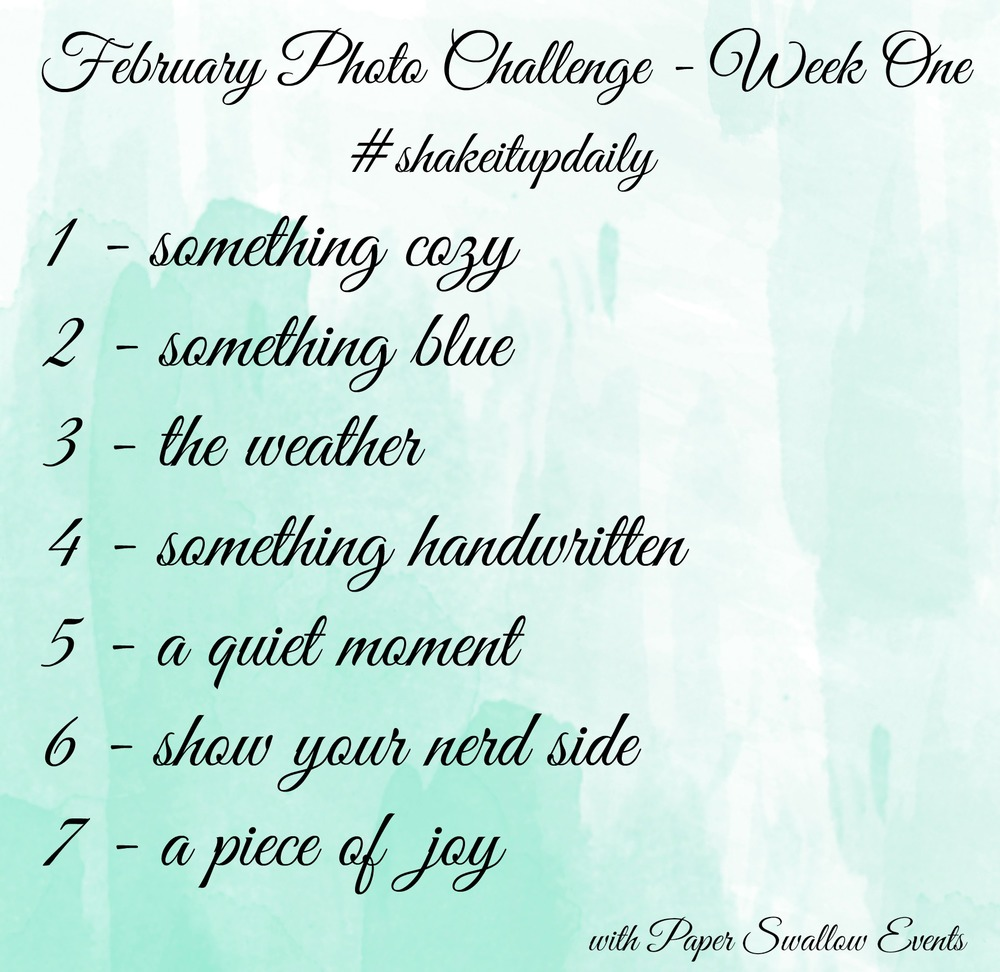February Photo Challenge Week One - Paper Swallow Events