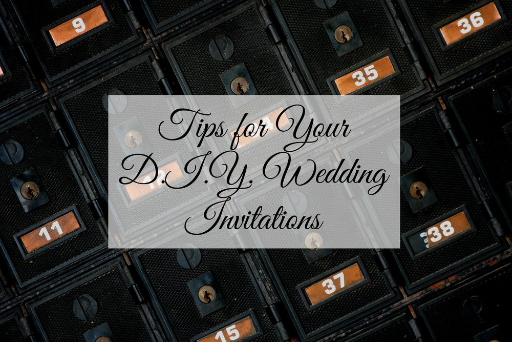Tips for Your DIY Wedding Invitations - Paper Swallow Events