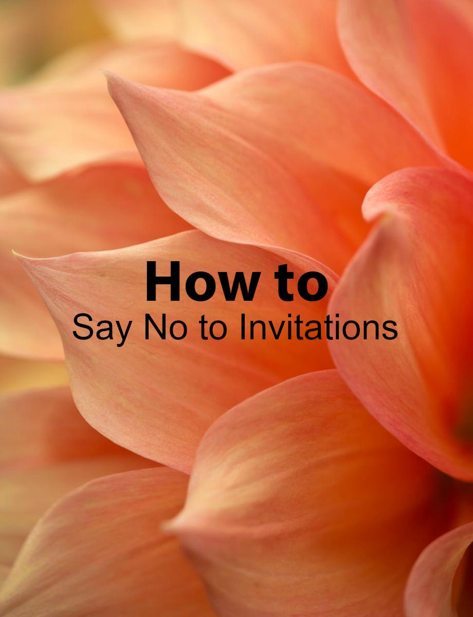 How to Say No to Invitations - Paper Swallow Events #rsvp #invitation #selfcare