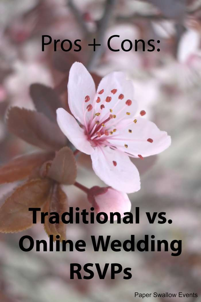 In this digital age is it better to save money and go with online RSVPs or should you stick with the traditional route and pay for stamps and paper RSVPs? What do wedding guests prefer? Click through to find out! @paperswalloweve