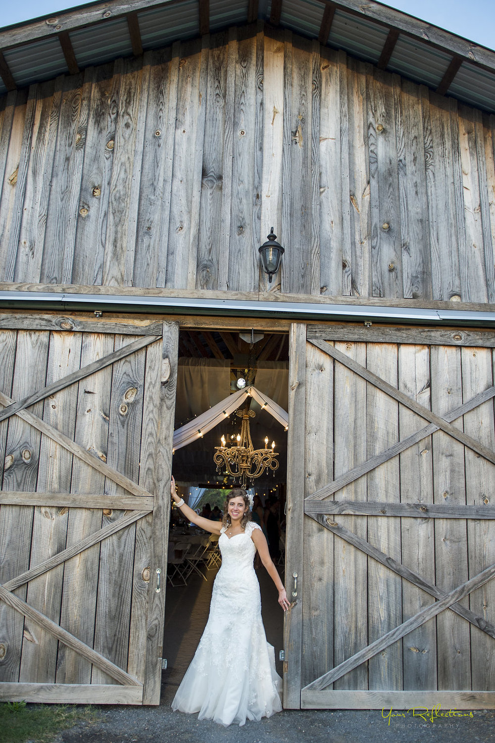 Curtis + Sarah's elegant, rustic barn wedding with a live swing band and a Disney's UP inspired card box on their gift table was so much fun to coordinate! Click through to see more of photos from their wedding day! @paperswalloweve