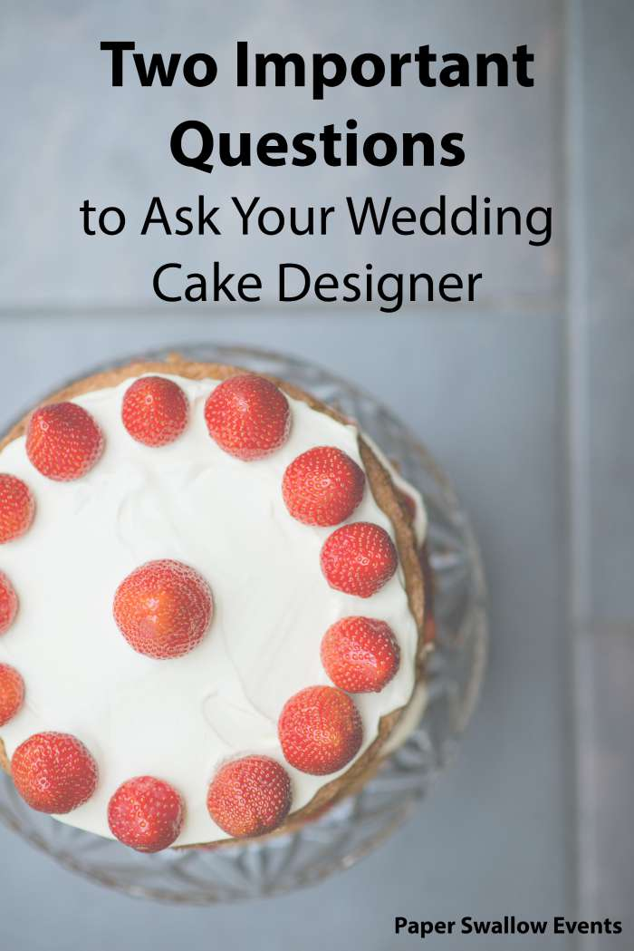 When working with any of the vendors for your wedding day, there are a myriad of questions that need to be asked. Click through to this post to discover two of the most important questions you can ask your wedding cake designer and why you should be asking them! @paperswalloweve
