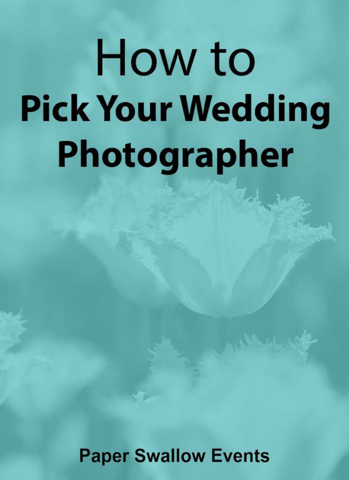 Is choosing your wedding photographer overwhelming you? In this post, Paper Swallow Events breaks down how to pick your wedding photographer in easy steps that can easily be applied to any wedding budget! @paperswalloweve