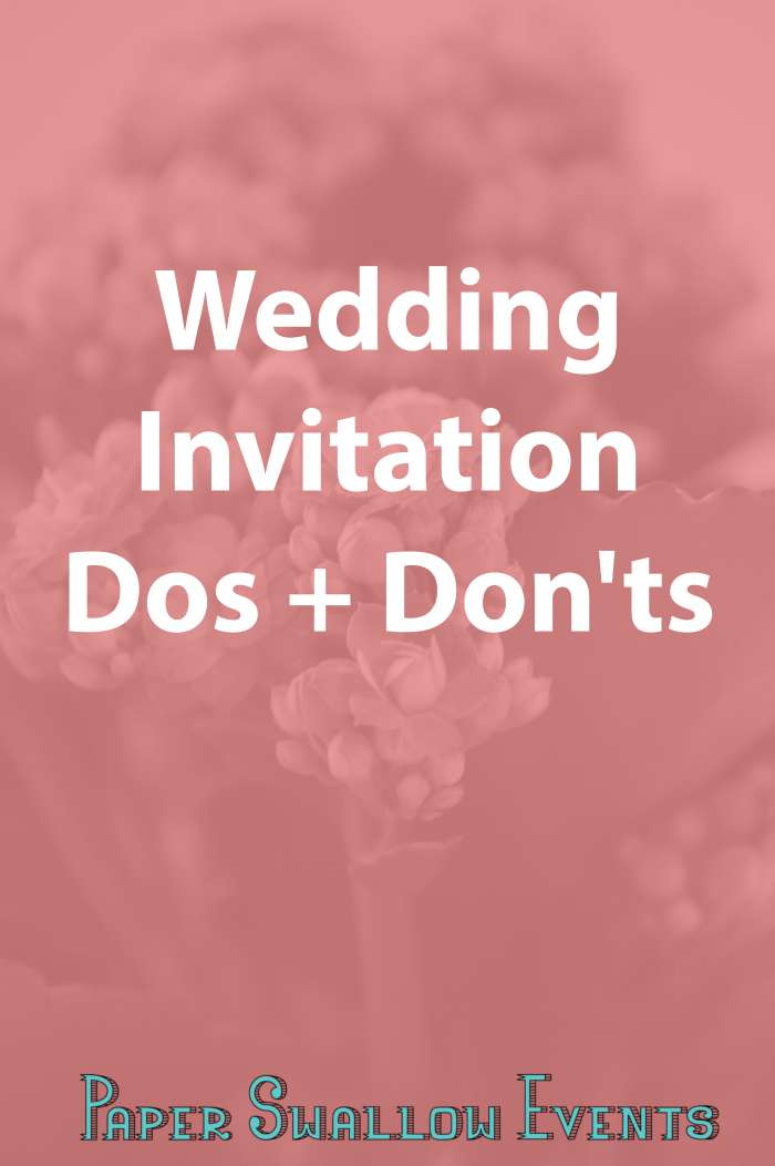 Are you a bride to be who is about to send her wedding invitations? In this blog post the dos and don'ts of wedding invitations are quickly and easily covered so that you don't have to worry! There's even a free printable checklist, if you need it. Click through to grab it!