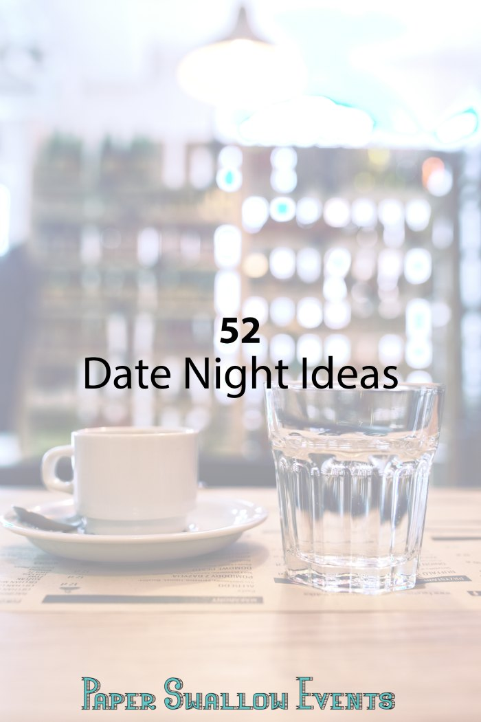 Whether you're dating, engaged, or married date nights are important for keeping a connection between you and your partner. Here are 52 date night ideas to make planning your next date night even easier!