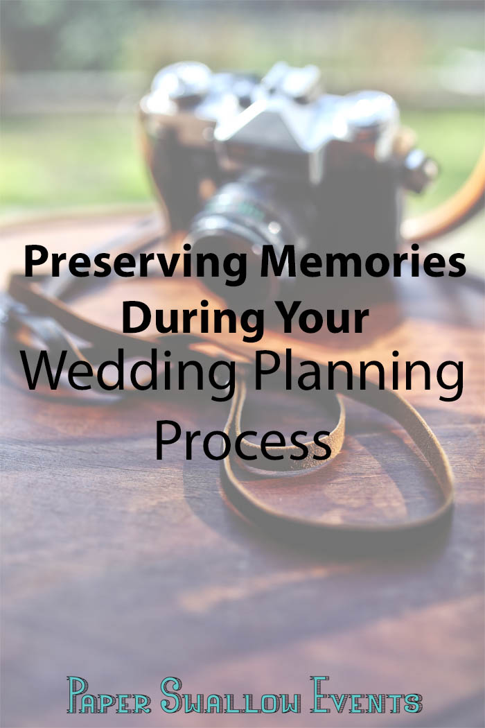 Are you struggling to preserve your memories during your wedding planning process? Click here for easy, actionable steps that will help you, dear bride-to-be, better document your memories during this exciting time! @paperswalloweve