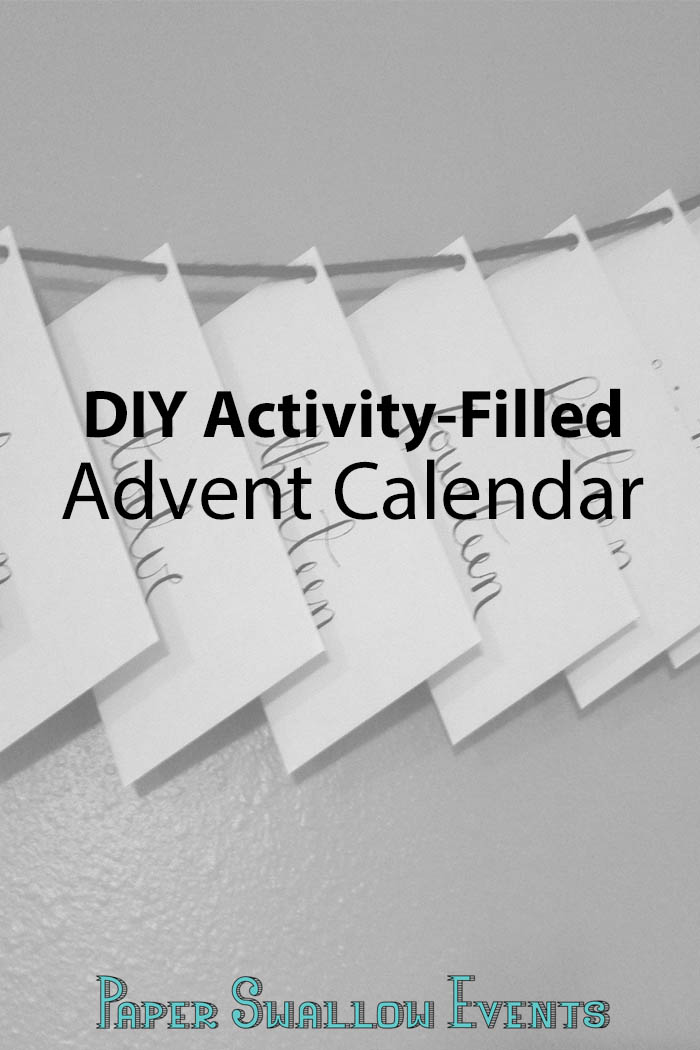 DIY activity filled advent calendar perfect for adults and children alike this Christmas season! Click through for the details! @paperswalloweve