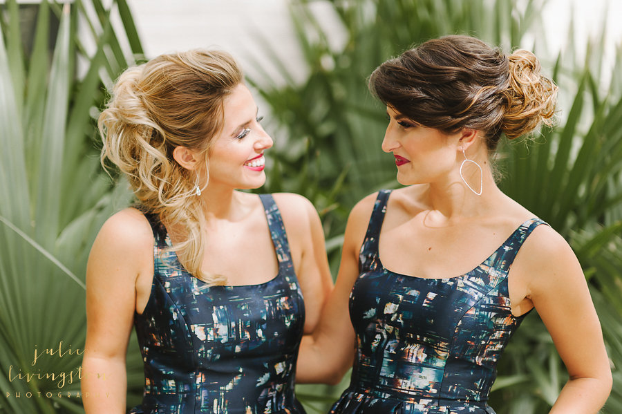 PHOTO BY JULIE LIVINGSTON PHOTOGRAPHY, Dresses by Rent the Runway
