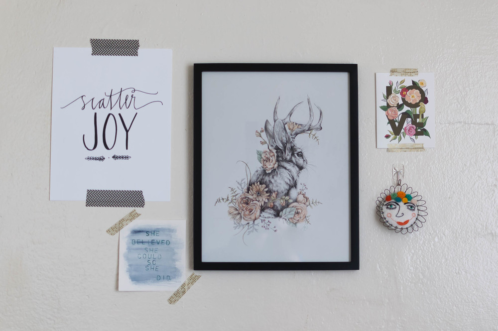 Nest and Burrow's beautiful animal watercolors make the most beautiful statement for your gallery wall. They somehow manage to be both realistic yet whimsical and will absolutely bring a smile to people's faces when they enter your space.