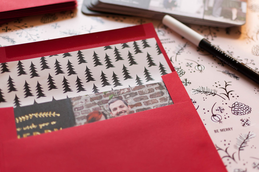 Use Tiny Prints as your one stop shop for all of your Christmas card or invitation needs! Get custom photo cards, beautiful envelopes, easy to assemble envelop liners, address stamps and even your own custom stamps for the final perfect touch!