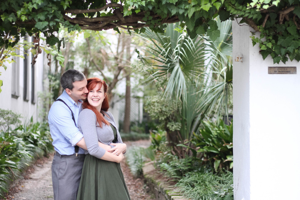 A Downtown Charleston couples photo session. @paperswalloweve