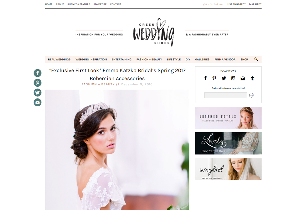 Paper Swallow Events featured on Green Wedding Shoes