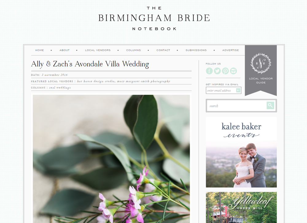 Paper Swallow Events featured on The Birmingham Bride.