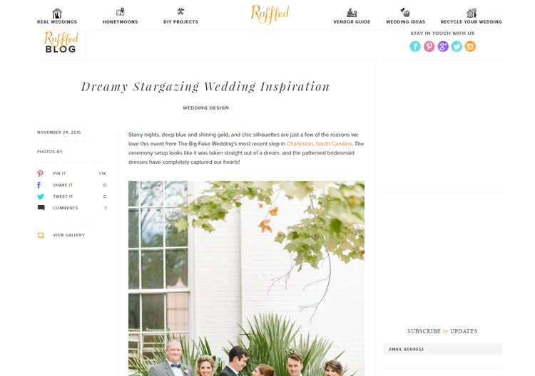 Ruffled Blog - Big Fake Wedding Stargazer Feature