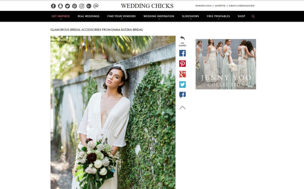 The Wedding Chicks Emma Katzka Spring 2017 Collection Feature