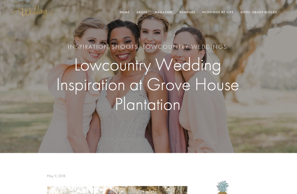 A Lowcountry Wedding - Lowcountry Wedding Inspiration at Grove House Plantation Feature.png