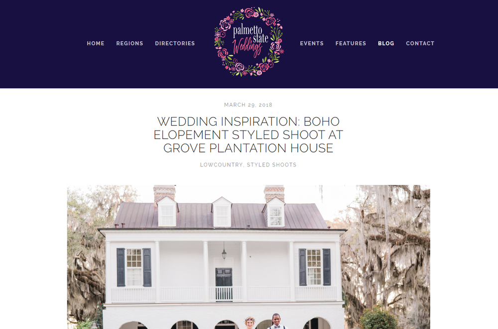 Palmetto State Weddings - Boho Elopement at Grove Plantation House Feature.png