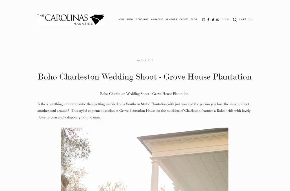 The Carolinas Magazine - Boho Charleston Wedding Shoot at Grove House Plantation Feature.png