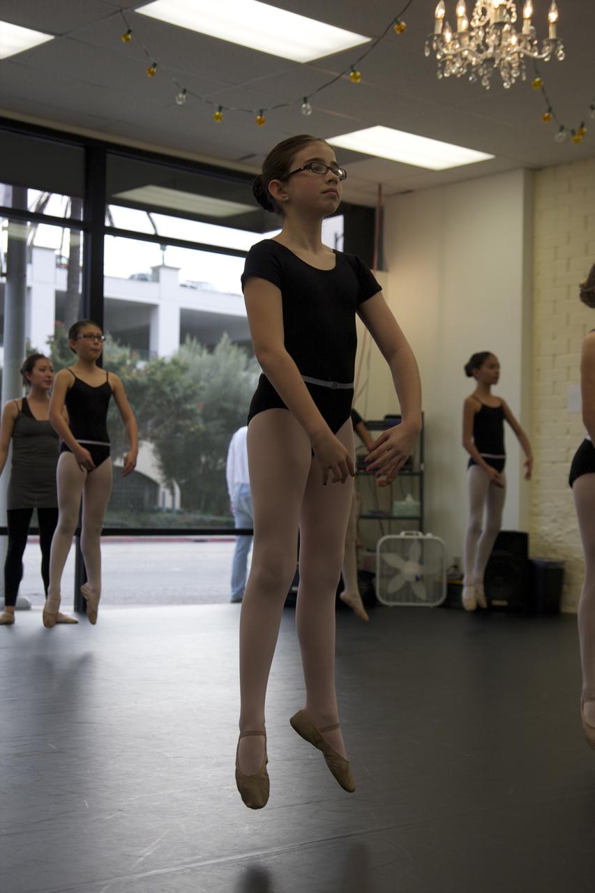 Jumping in ballet class - LAAC