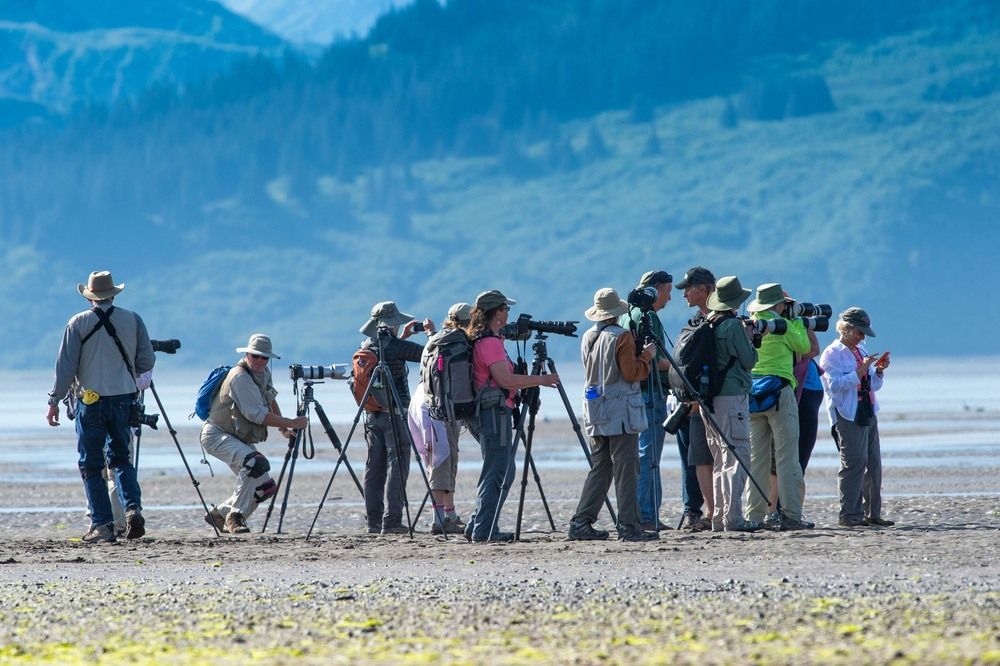 Photographers on Alaska Photo tour