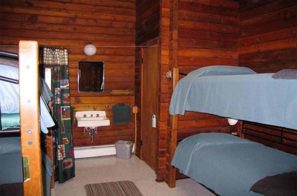 Room at Brooks Lodge in Katmai National Park
