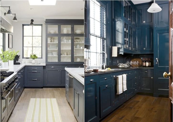 blue gray cabinets kitchen kitchens i m digging annawestinteriors 12481