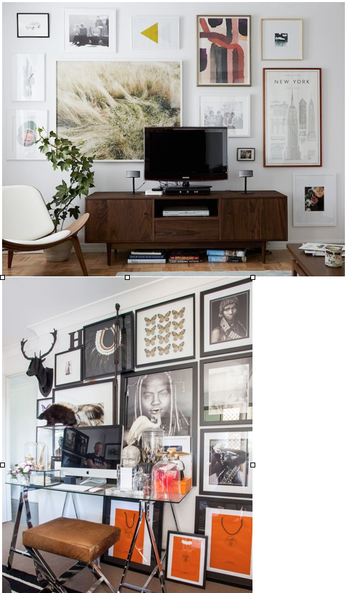 - top photo in a room designed by Emily Henderson / bottom photo originally posted on theaestate