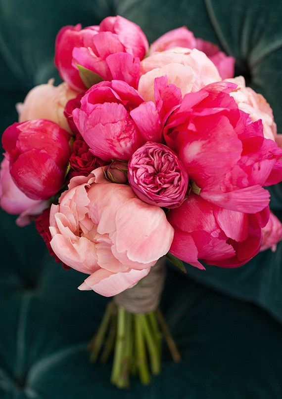 -bouquet of peonies / via The Painted Bench