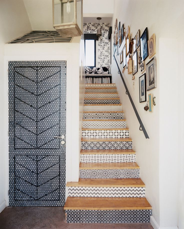 - via Lonny Magazine - stairs AND the door!