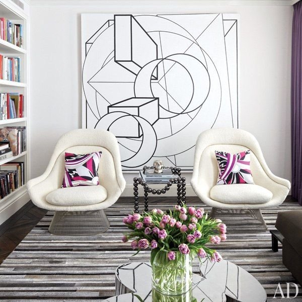 -Warren Platner chairs by Knoll, via Architectural Digest