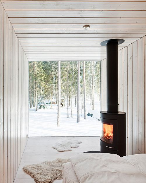 -via archdaily.com / Who wouldn't want to sleep in there?!  Pure, simple bliss...